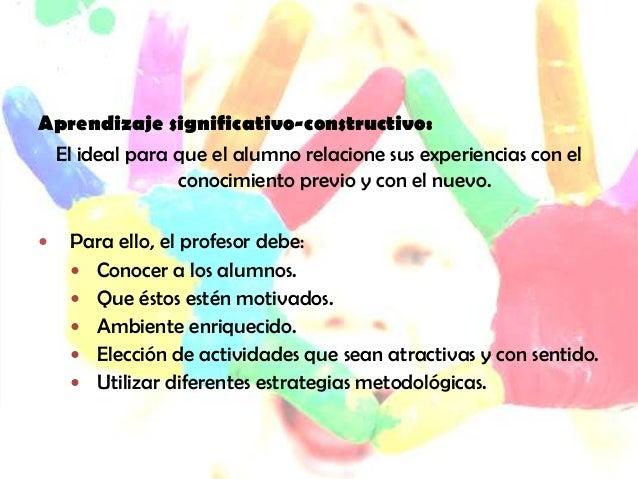  Aprender significativamente consiste en modificar esquemasde conocimiento que posee el alumno: establecerconexiones, ent...