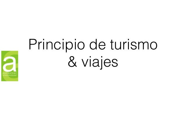 Principio de turismo & viajes