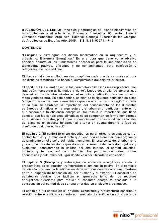Libro - Principios y estrategias del diseño bioclimático - Faabian