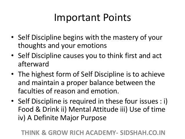 how to achieve self discipline