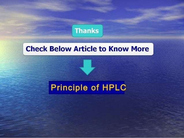 Principle Of Gc And Hplc