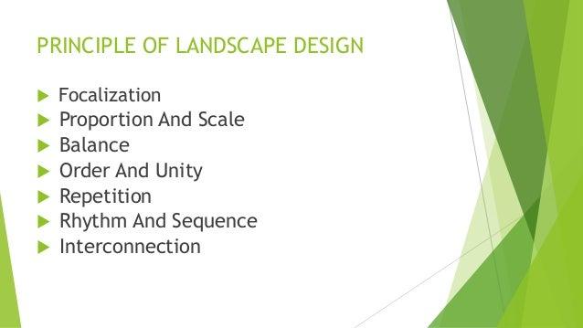 principle of landscape design