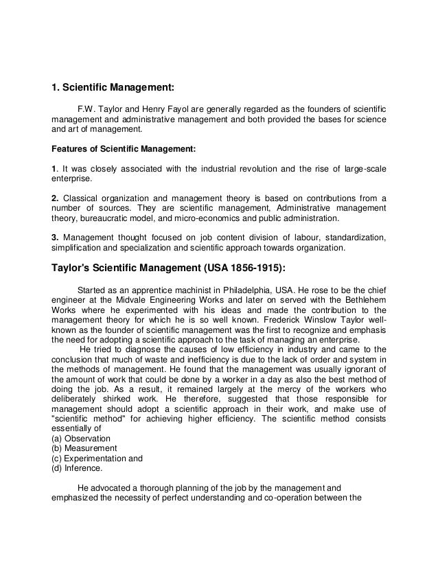"""fredrick taylors management theory Taylor's scientific management and adams' equity theory  gabor (2000) refers  to frederick winslow taylor as a """"capitalist philosopher"""" who."""