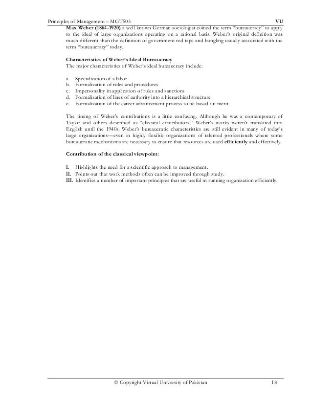 principle of management term paper Different ideas are little more than short-term fads and  the principle of co-ordination – the need  chapter 2 approaches to organisation and management 45.