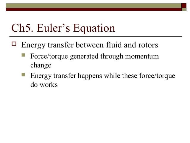 Lec1 Euler Equation