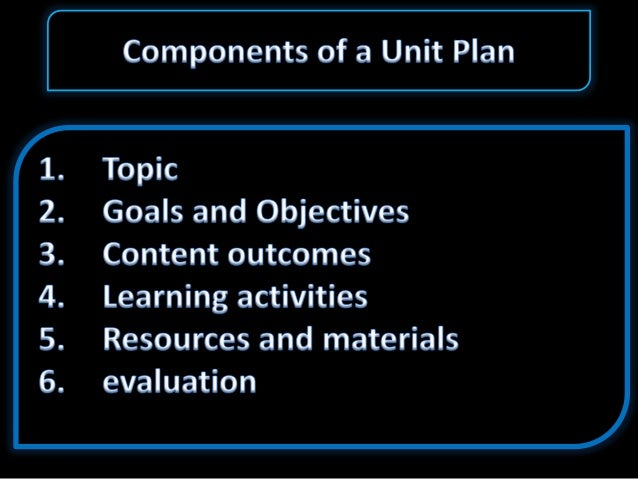 what is an instructional unit