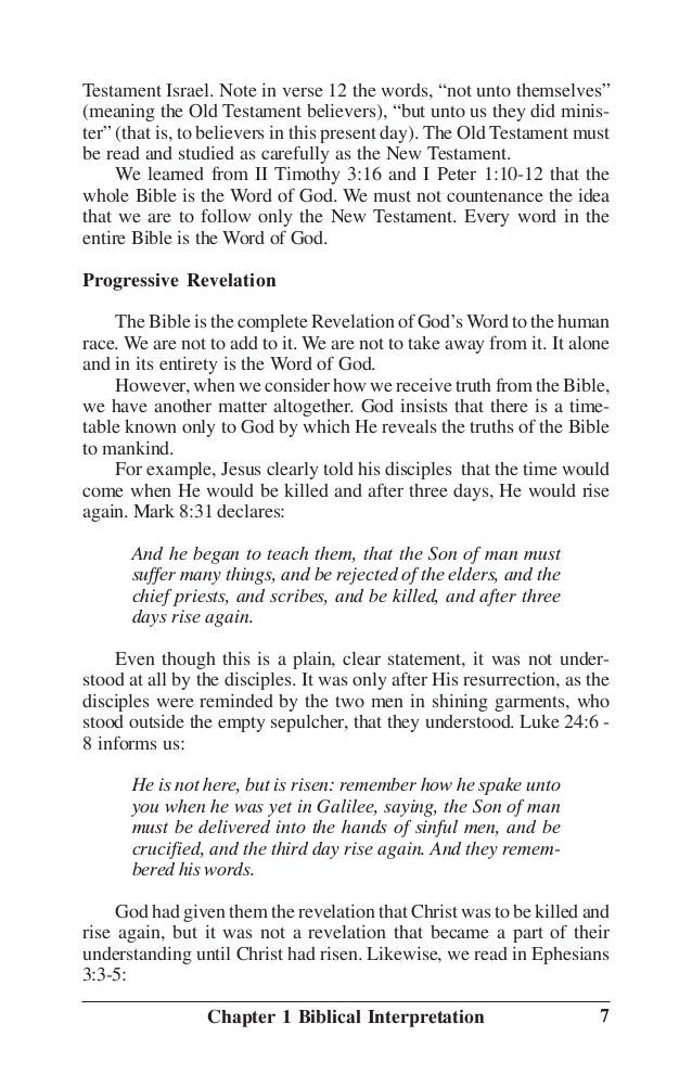 First Principles of Bible Study
