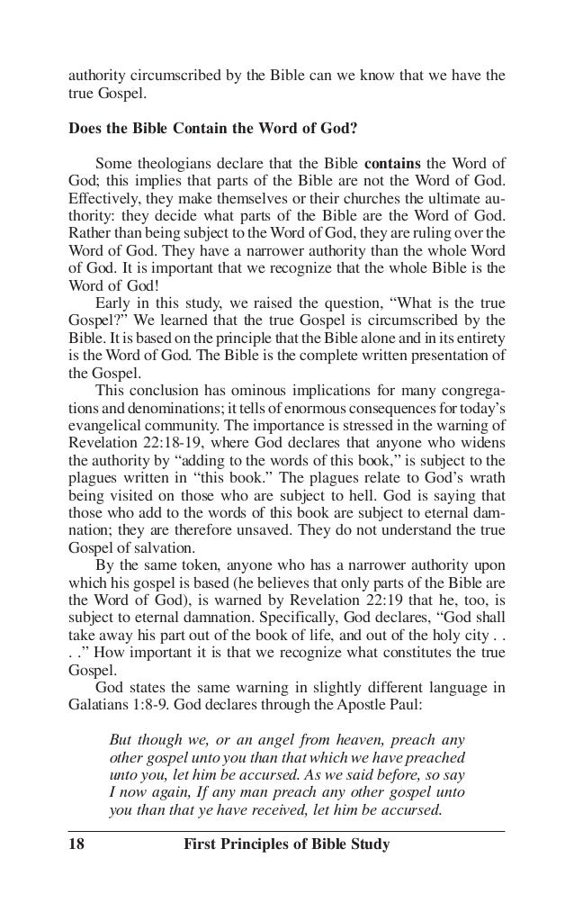 First Principles - Bible Study Guide