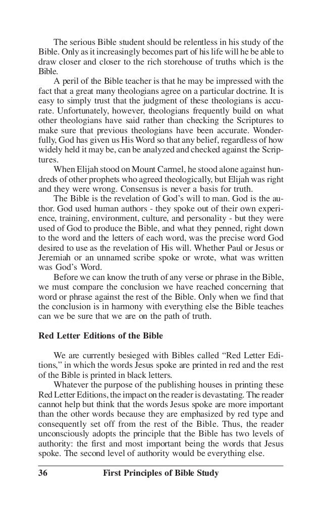 The First Principles - Bible Baptist Church Ballincollig ...
