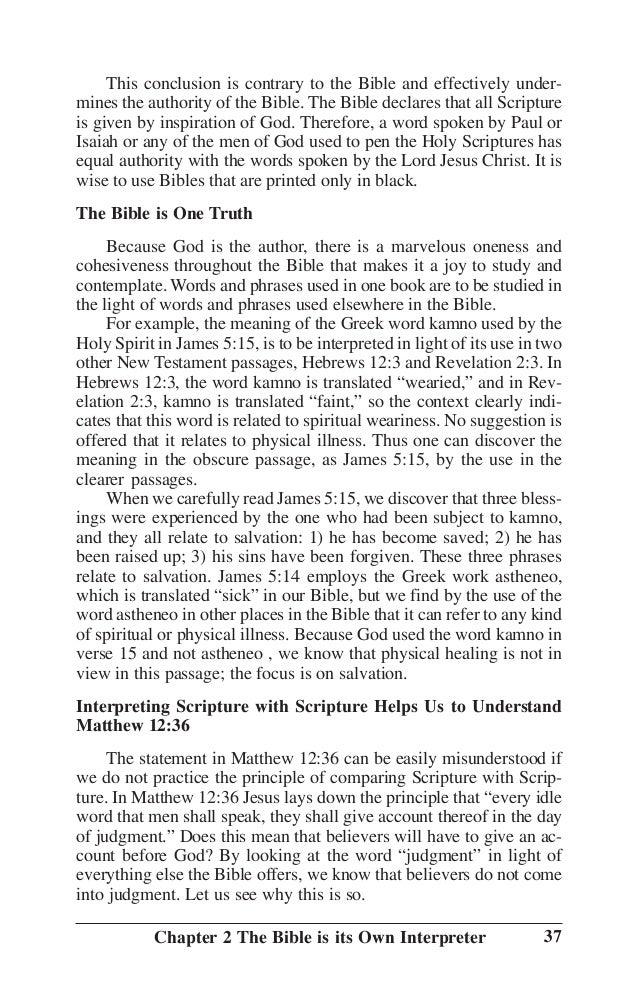 Bible Principles