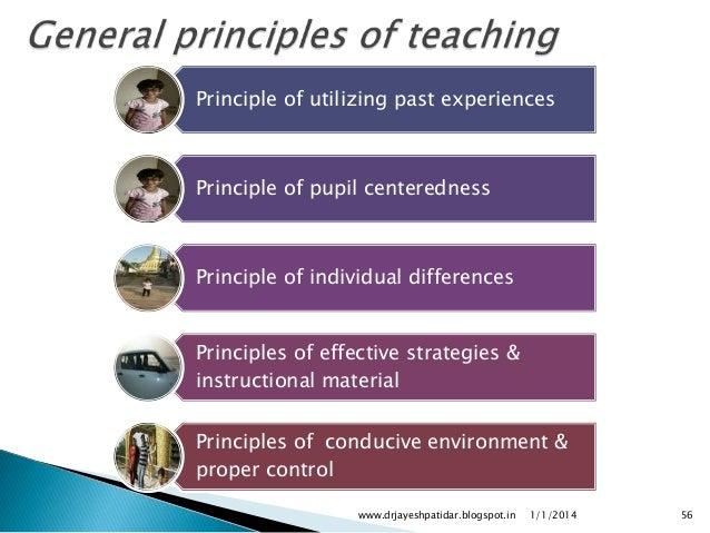 psychological principles of teaching