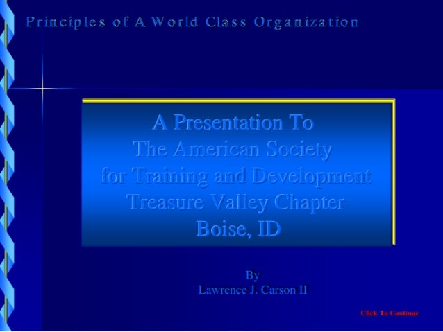 !  Principles Of A  World  Class  Organization  Nautopdf1 101407