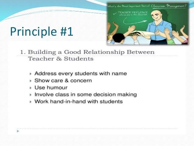 Principles of classroom management essay