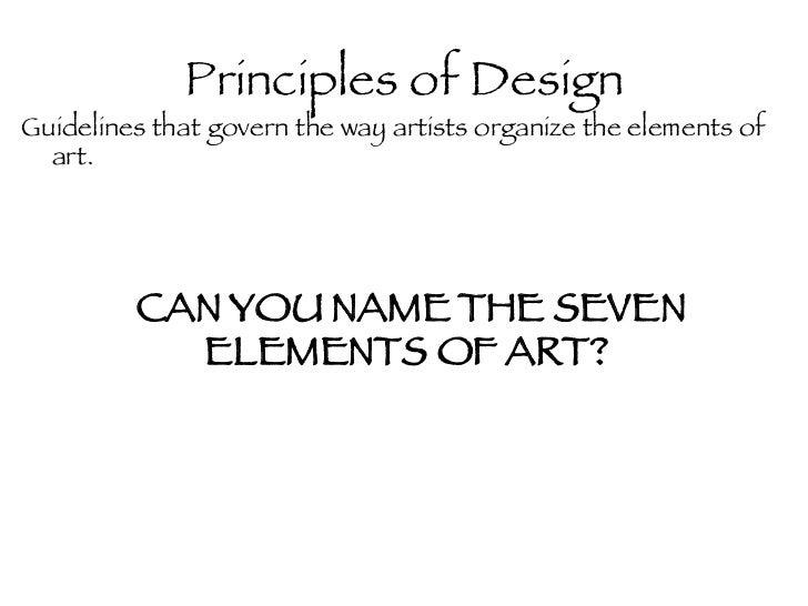Name The Principles Of Design : Principles of design