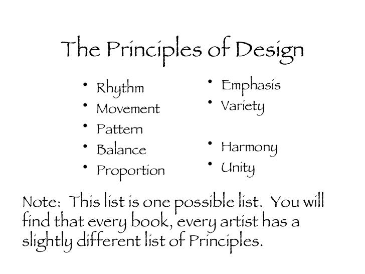 List Principles Of Design : Principles of design