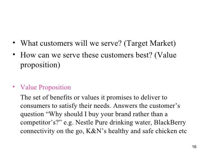 Principle of marketing nestle