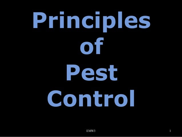 Principles of Pest Control EMW3  1