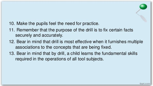 Principles Underlying Drill and Review Methods