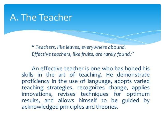 being an effective teacher essay