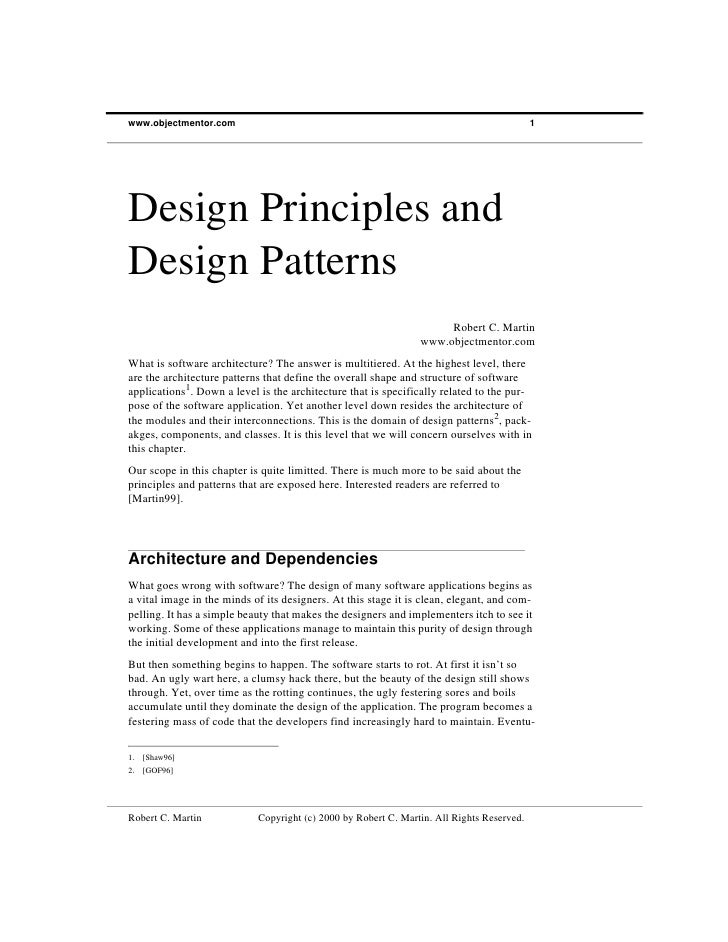 www.objectmentor.com                                                                       1Design Principles andDesign Pa...
