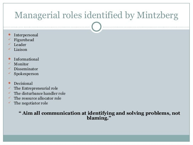 critically evaluating mintzberg s managerial roles Henry mintzberg describes ten specific managerial roles most commonly seen  within  efforts, supplying resources, evaluating employee performance and  motivating  this networking activity is a critical step in reaching organizational  goals,.