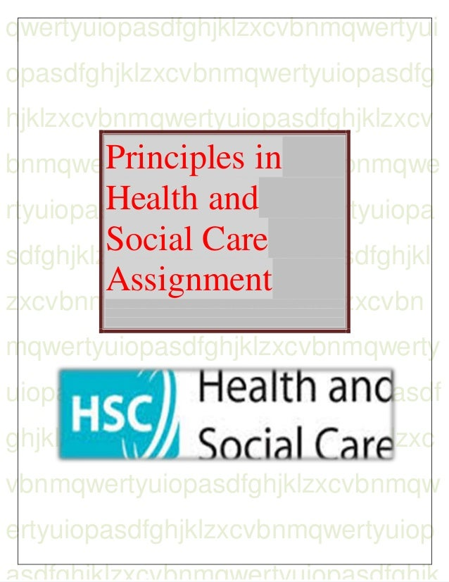 Principles in health and social care