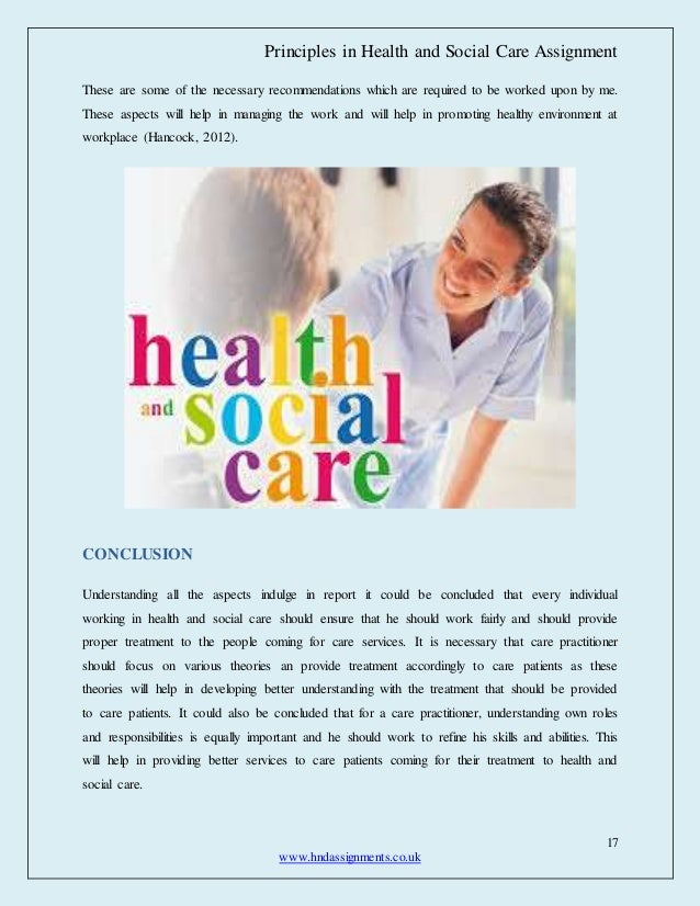 health and social care assignment essay