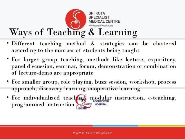 Teaching strategy for the adult learner