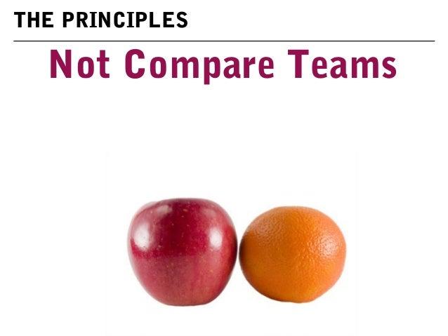Not Compare Teams THE PRINCIPLES