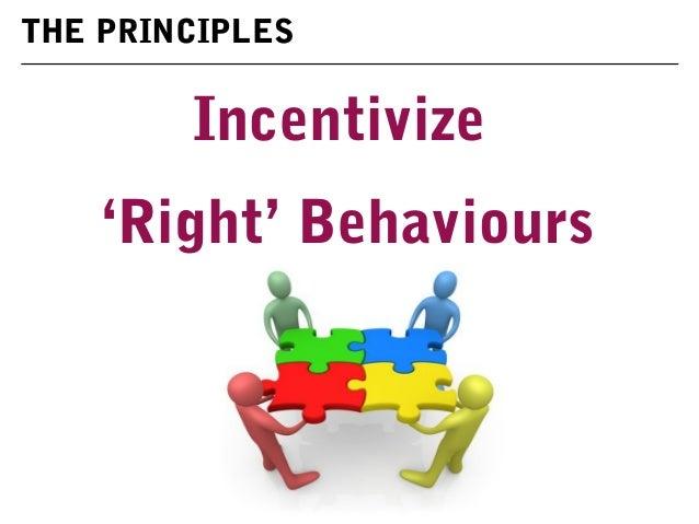 Incentivize 'Right' Behaviours THE PRINCIPLES