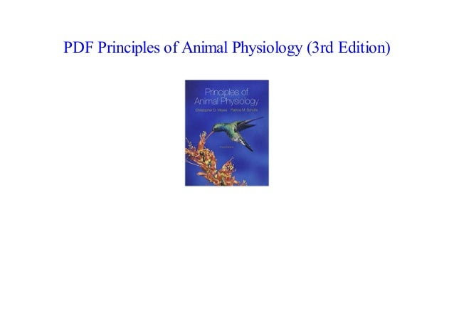Principles Of Animal Physiology 3rd Edition Pdf