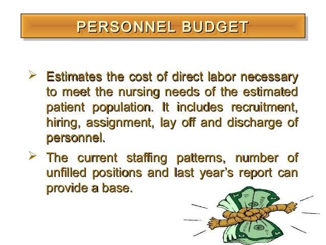 budgeting principles in nursing administration