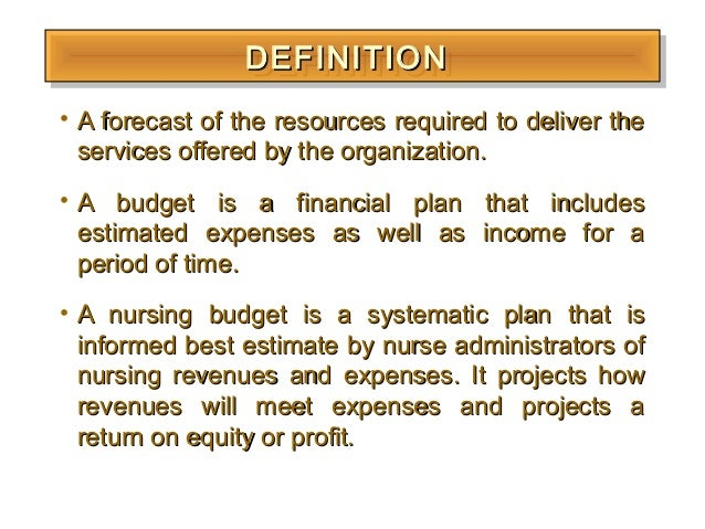 nursing budgeting It is an opportunity for nursing professionals and it is not the role or responsibility of the staffing committee to deal with budget toolkit bibliography.