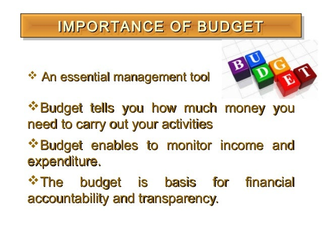 importance of budget management For example, management needs to know a sales estimate before it can predict how much cash will be collected during the period management uses the cash budget to manage the cash flows of a company.