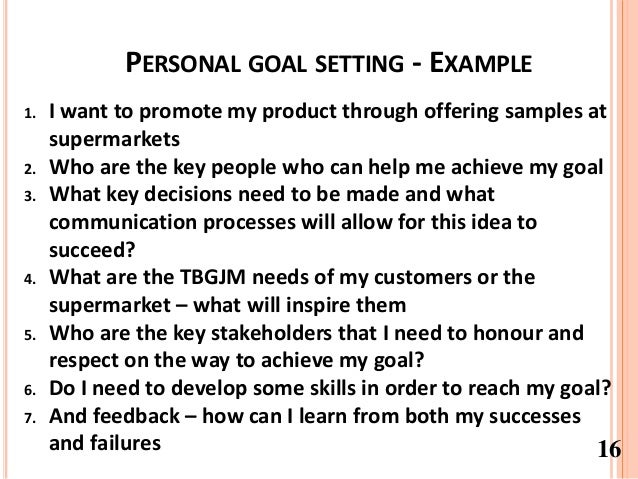 Personal goal and professional goal