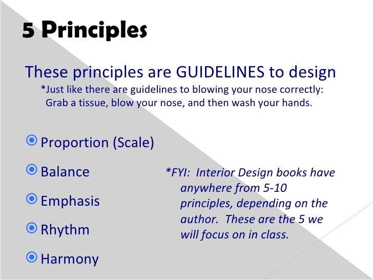 5 principles of design  WRMS Principles of Design