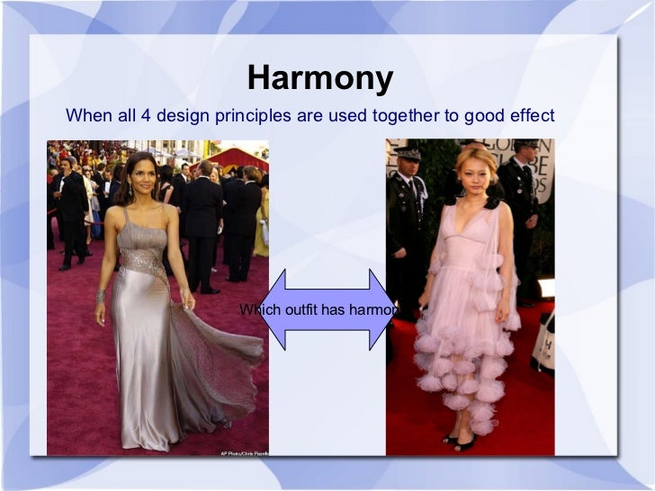 Principles Of Design Harmony In Fashion