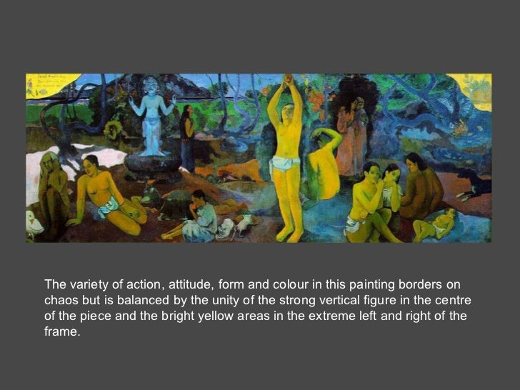 The variety of action, attitude, form and colour in this painting borders on chaos but is balanced by the unity of the str...