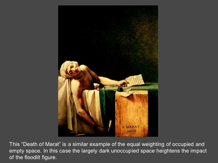 """This """"Death of Marat"""" is a similar example of the equal weighting of occupied and  empty space. In this case the largely d..."""