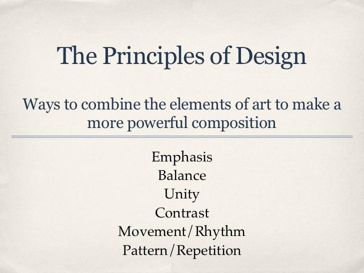The 8 Principles Of Art : Principles of design