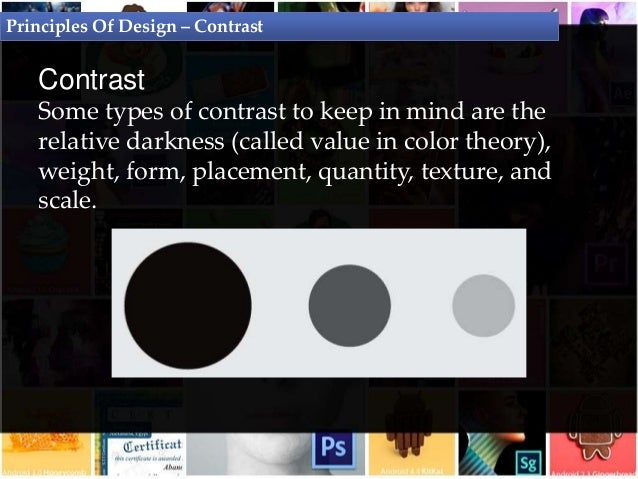 Principles Of Design Contrast : Principles of design graphic theory