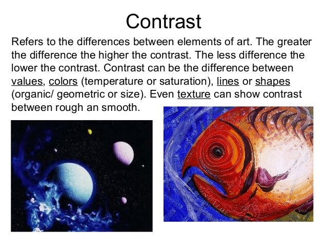Contrast Element Of Art : Principles of design