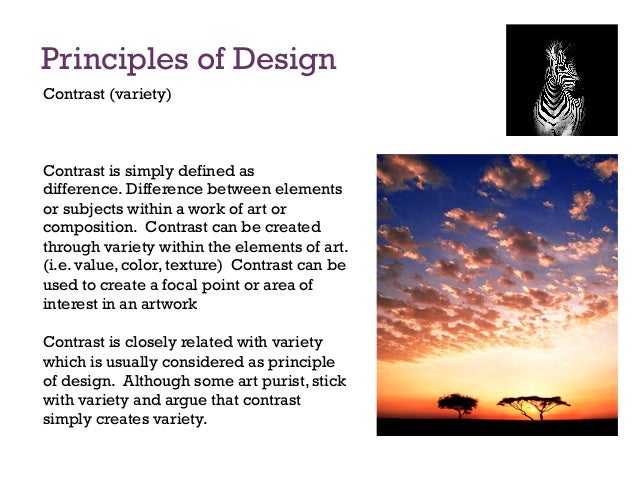 Elements And Principles Of Art Contrast : Principles of design