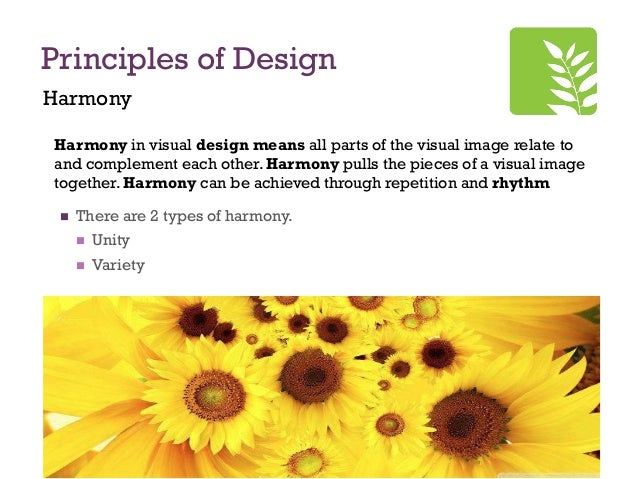 Principles Of Design Harmony : Principles of design