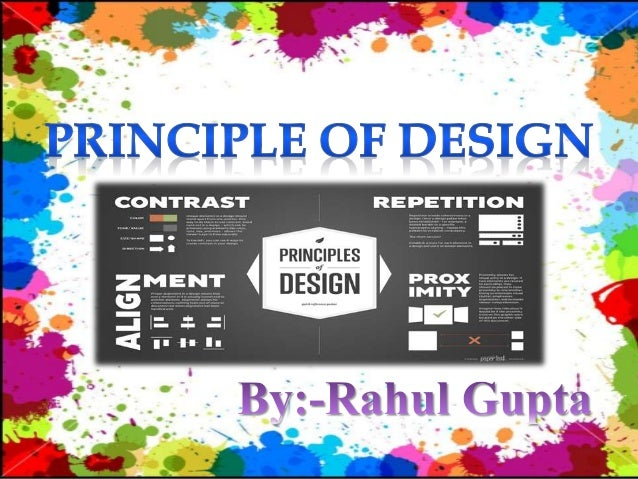  The principles of design describe the ways that artists use the elements of art in a work of art. Balance is the distrib...