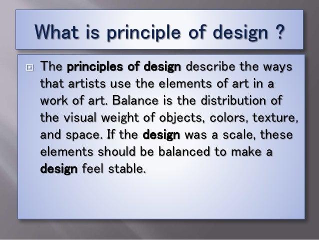 Principle of design Slide 2