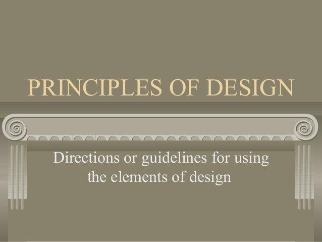 Elements Of Design Direction : Principles of design