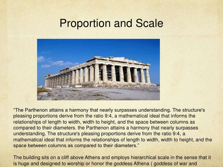 "Proportion and Scale ""The Parthenon"