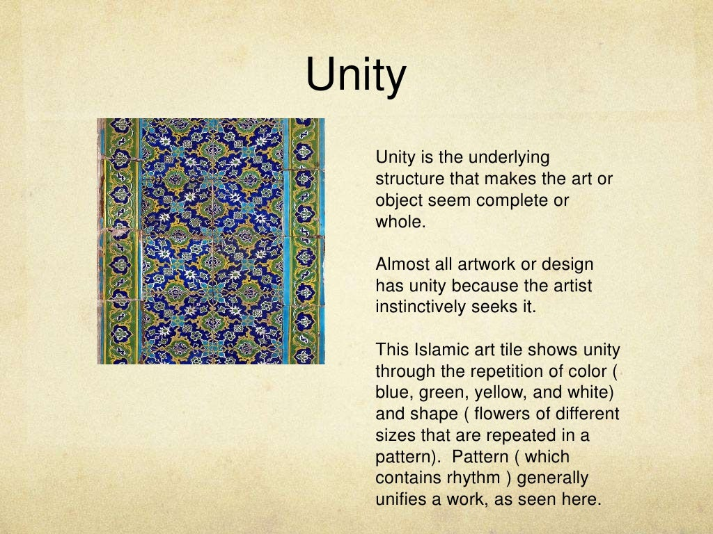 Principles Of Art Unity : Unity is the underlying
