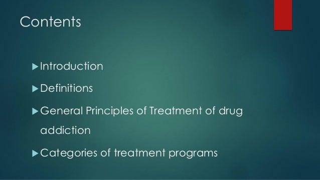 Principles of De addiction Programme Slide 2